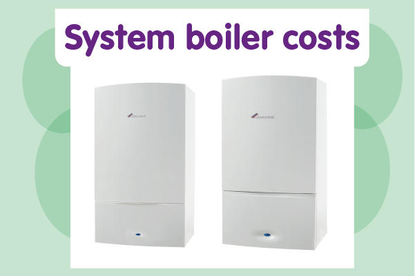 System boiler costs (Worcester)