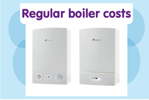 Regular boiler costs (Worcester)