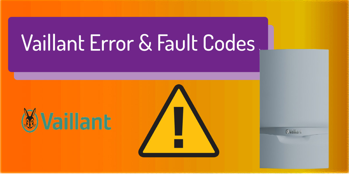 vaillant boiler error fault codes